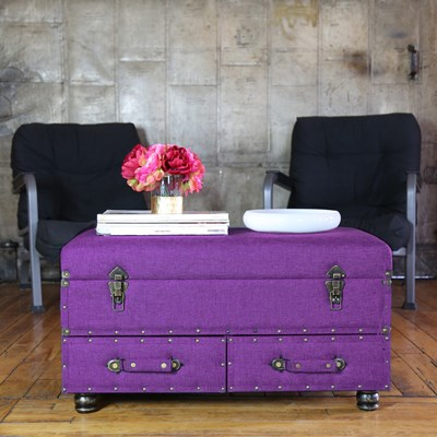Linen Storage Trunk - Dark Violet