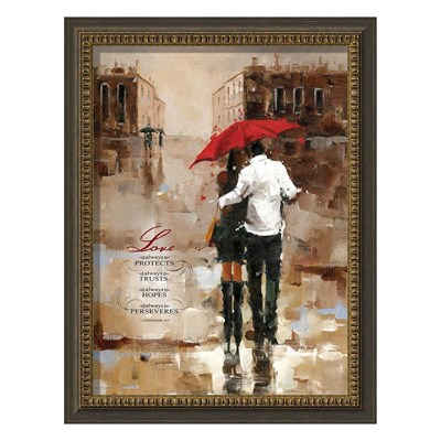 """Love Always Protects"" Framed Art"