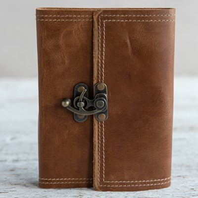Hook Closure Leather Journal