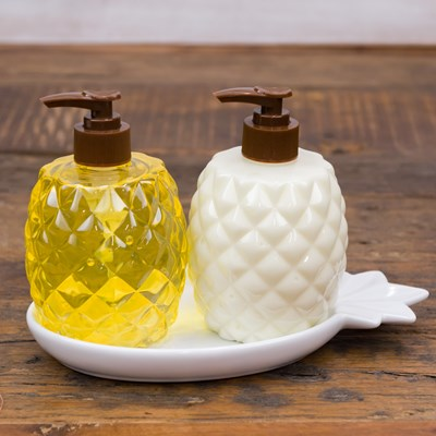 Pineapple Soap and Lotion Caddy