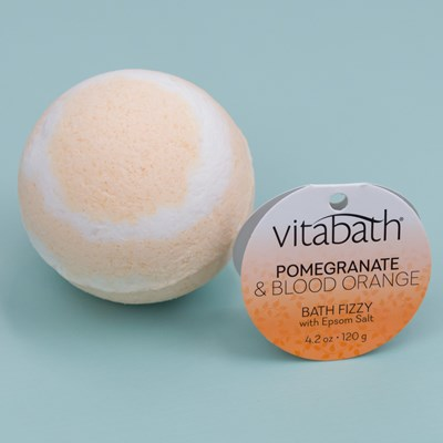 Vitabath Fizzy Bath Bomb - Pomegranate & Blood Orange