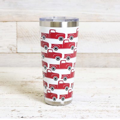 32oz Red Truck Tumbler