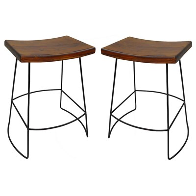 Wyatt Saddle Seat Counter Stool - Set of 2
