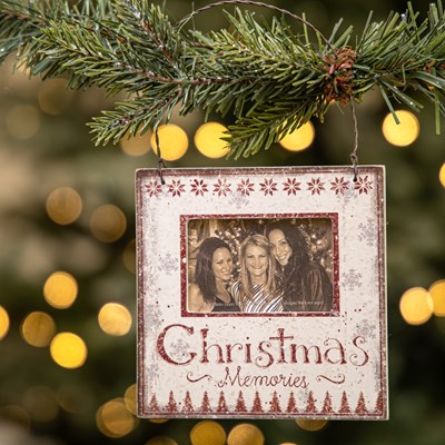 """Christmas Memories"" Photo Frame Ornament"