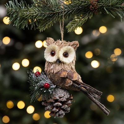 Sisal Owl Ornament
