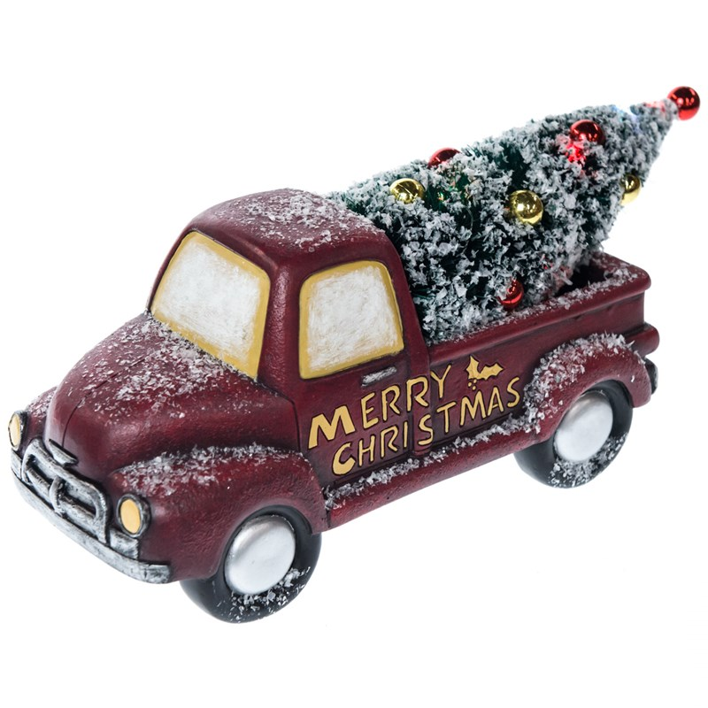 light up christmas tree delivery truck decor 0