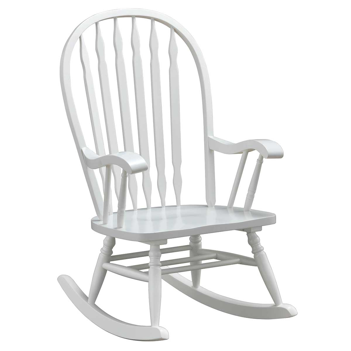Wondrous White Classic Americana Style Windsor Rocker Machost Co Dining Chair Design Ideas Machostcouk