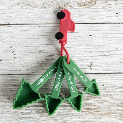 Red Truck and Tree 4-Piece Measuring Spoon Set