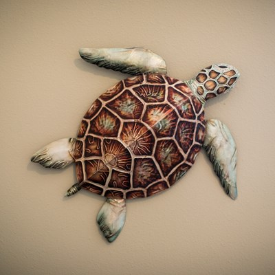 Metal Turtle Wall Decor - Large