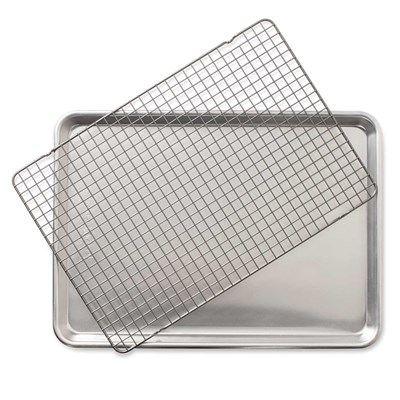 2-Piece Half Sheet with Oven-Safe Grid Set