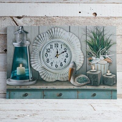 Light-Up Canvas with Clock