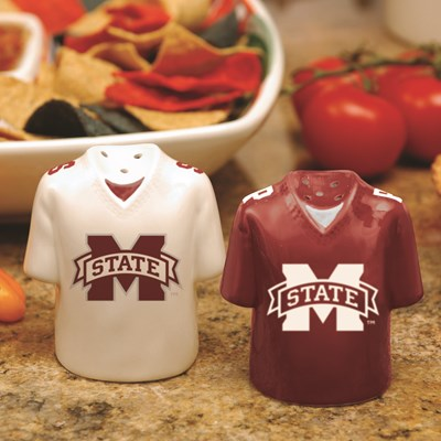 Jersey Salt & Pepper Shaker Set - Mississippi State