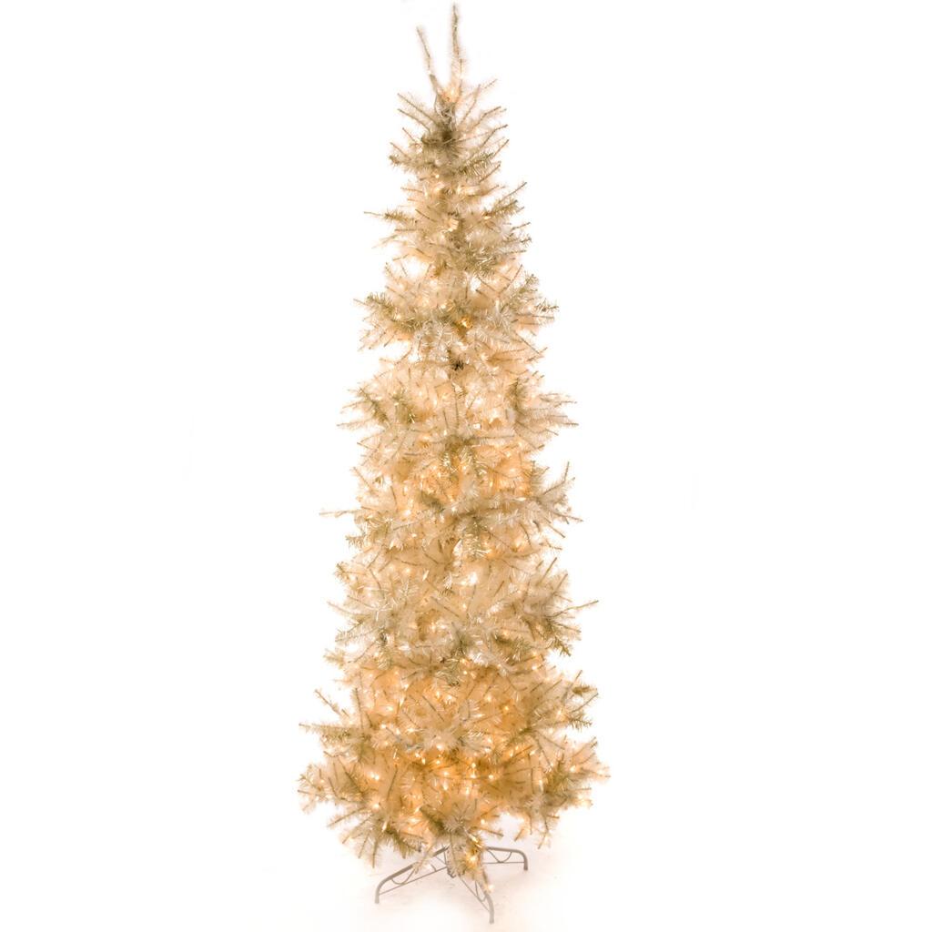 8 pre lit slim pearlized white christmas tree8 pre lit slim pearlized