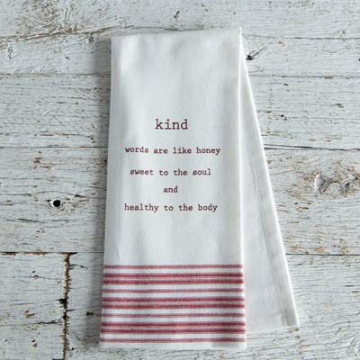 "Oh Gussie! ""Kind Words"" Kitchen Towel"