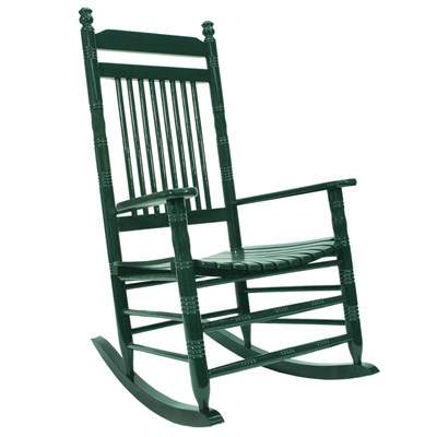 Slat Rocking Chair - Green