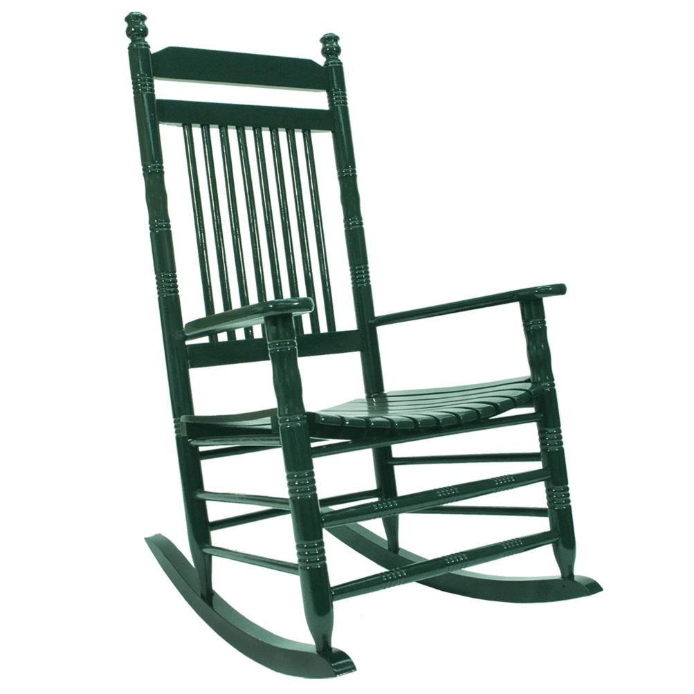 Exceptional Slat Rocking Chair   Green