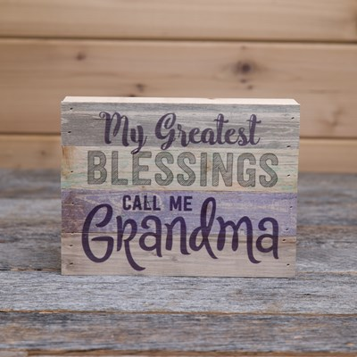 """My Greatest Blessings"" Box Sign"