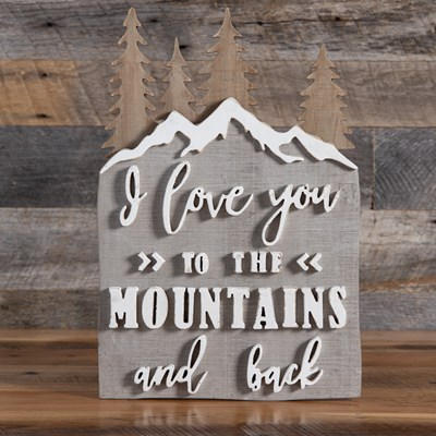 Mountains and Back Wood Wall Decor