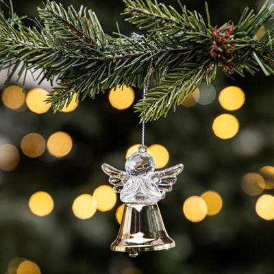 Angel Bell Ornament - Gold