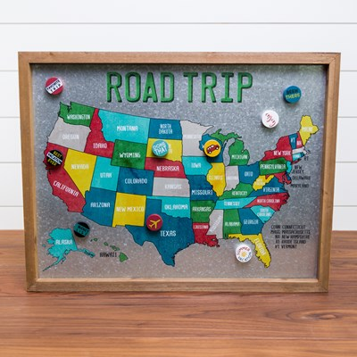 Road Trip Magnet Board