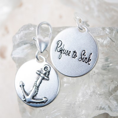 """Refuse To Sink"" Anchor Charm"