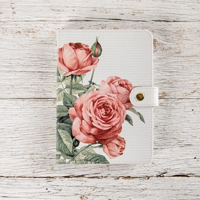 Cabbage Rose Magnetic Closure Journal