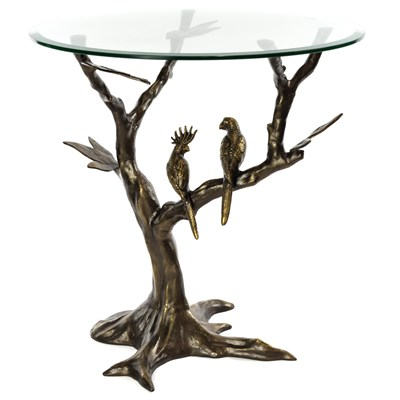 Aluminum Tropical Birds Side Table