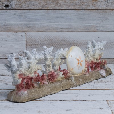 """Welcome"" Spike Coral Decor"