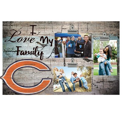 Chicago Bears - I Love My Family Clip Frame