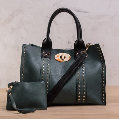 Green Studded 3-in-1 Bag
