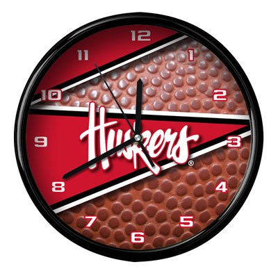 Nebraska - Football Clock