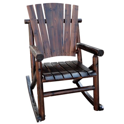 Char-Log Wooden Rocker