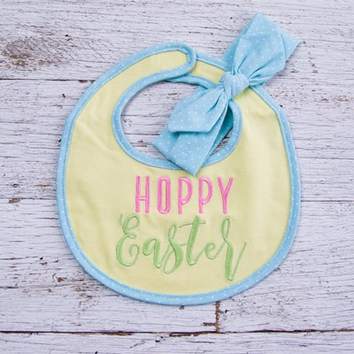 """Hoppy Easter"" Bib Set"