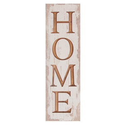 """Home"" Carved Wood Sign"