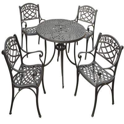 "Sedona 5-Piece Metal 42"" Dining Set"