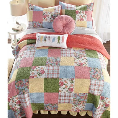 Sunny Patchwork Quilted Throw Blanket by Donna Sharp