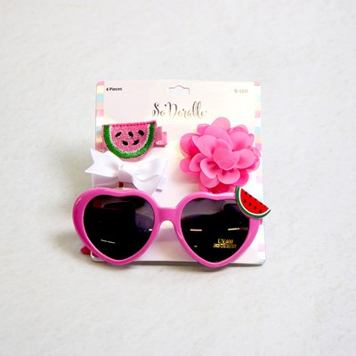 Infant Sunglass and Clips Set