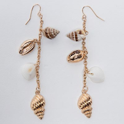 Linear Shell Earring