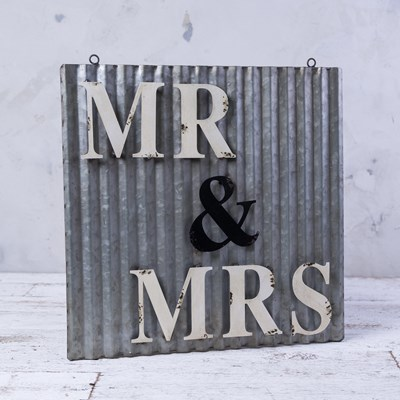 """Mr. & Mrs."" Metal Wall Decor"