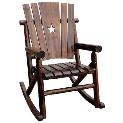 Char-Log Wooden Star Rocker