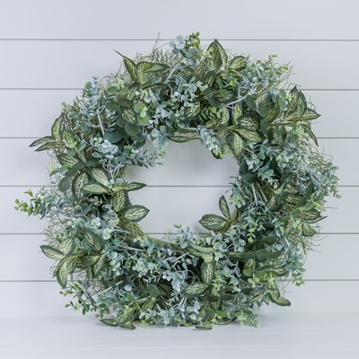 Artificial Mixed Greenery Wreath