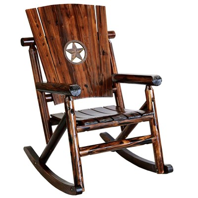 Char-Log Wooden Star Medallion Rocker