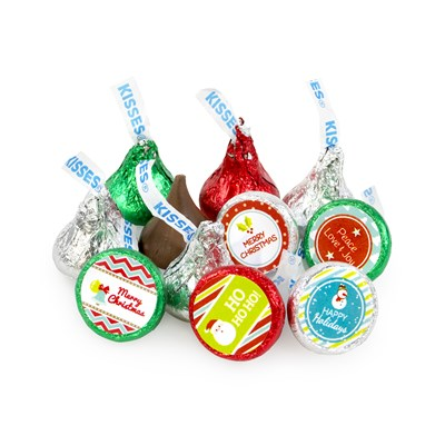Hershey's Red, Green and Silver Christmas Kisses - 2lbs.