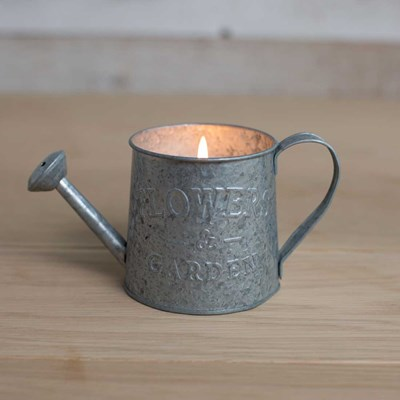 Metal Watering Can Candle