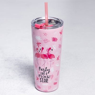 Flock Star Tumbler With Straw