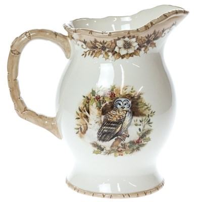 Woodland Stoneware Pitcher