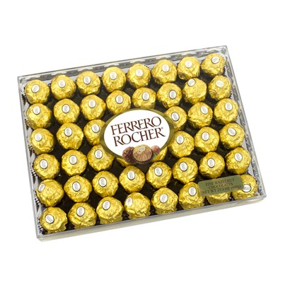 Ferrero Rocher 48-Piece Hazelnut Chocolate Gift Box
