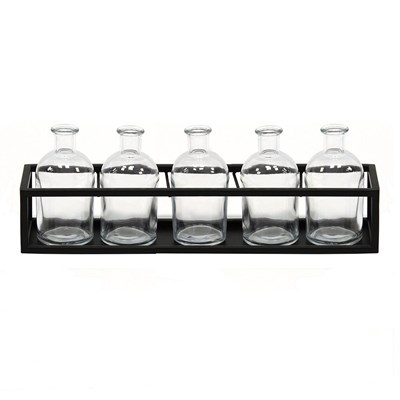 6 Piece Glass Vase Set