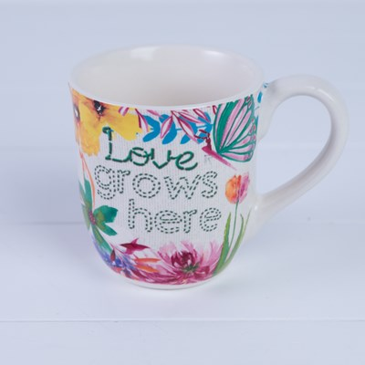 """Love Grows Here"" Mug"