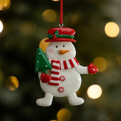 Claydough Snowman with Tree Ornament